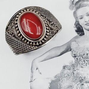 Vintage 925 BA Suarti Sterling carnelian bracelet